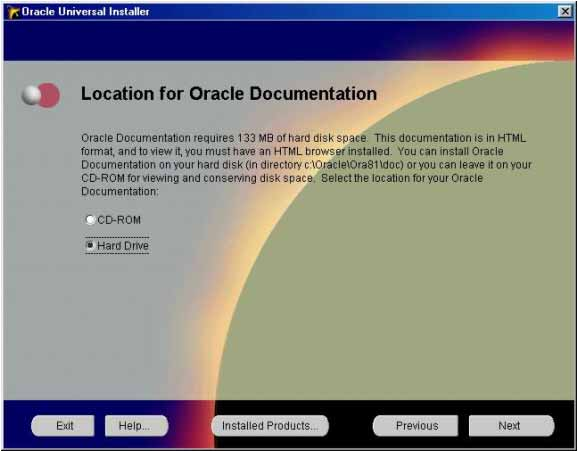 Oracle installation